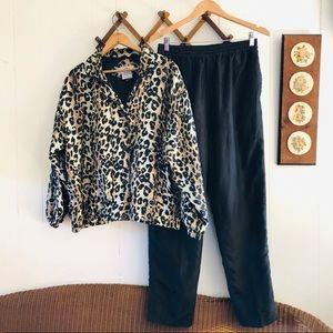 Vintage Silk Track Suit